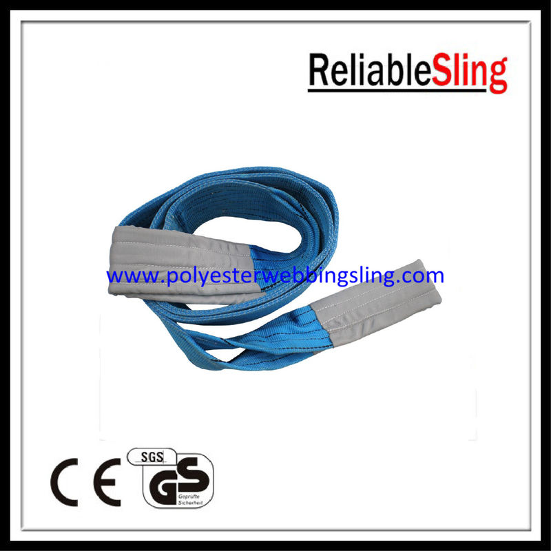 SF 7 8T Blue color polyester duplex webbing sling 1-100 meters length