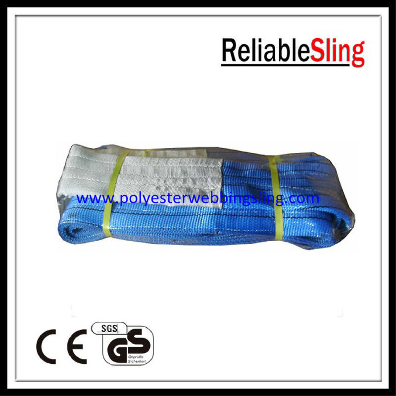 High Strength 8t eye - eye Flat Webbing Sling for defense and transport industries