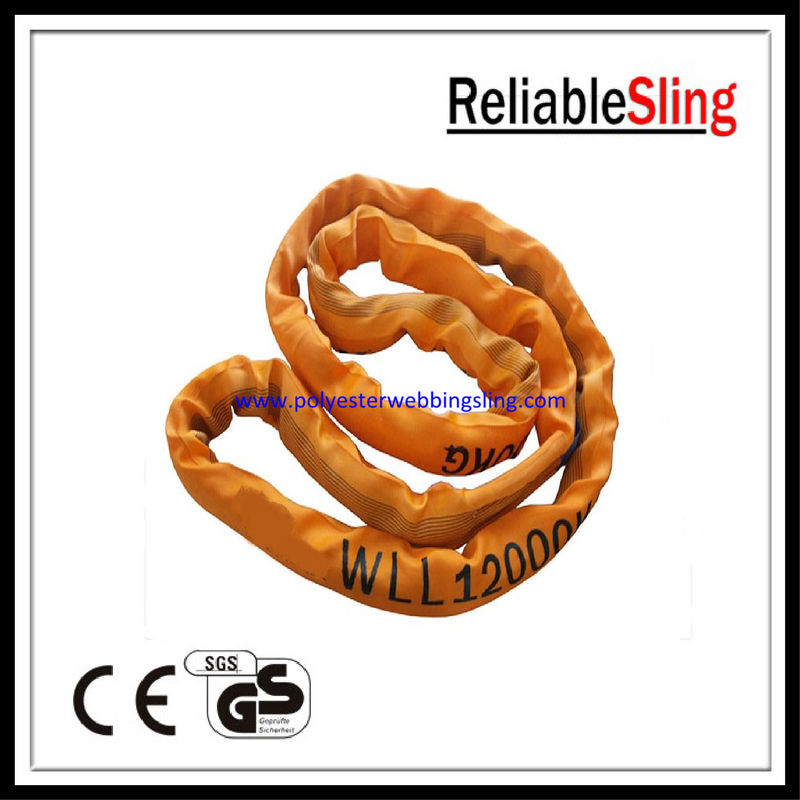 CE ISO approved 8t 10t 12t polyester round slings 10m 20m 30m custom
