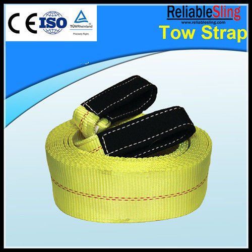 Yellow Nylon Recovery Car Towing Strap CE TUV GS ISO Approved