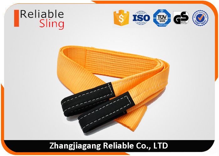 "2.5"" 25,000 LB Orange Recovery Strap For Off- Road Towing With Reinforced Loop Ends"