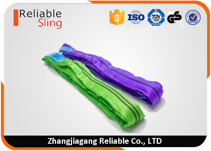 EN1492-2 Color Code Durable Polyester Endless Round Sling For Cargo Lifting