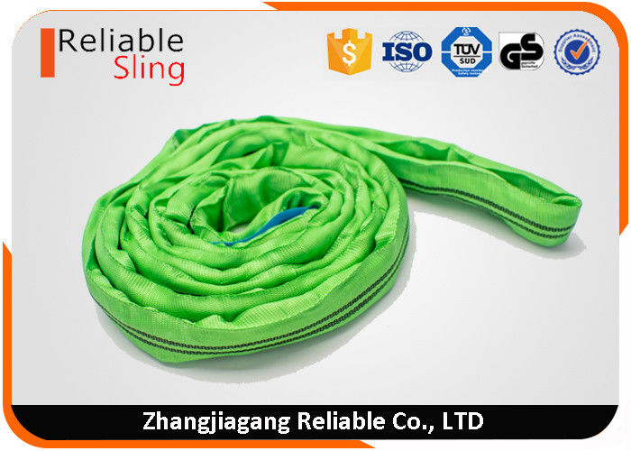 Colour Code Polyester Round Slings Tubular Lifting Straps 2 Ton CE Certification